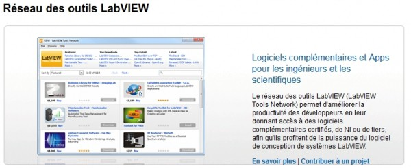 Prochainement sur LabVIEW Tools Network